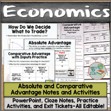 Absolute and Comparative Advantage PowerPoint, Notes, and