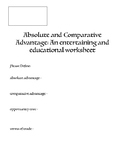 Absolute and Comparative Advantage Worksheets