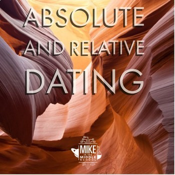 Absolute and Relative Dating Cut, Color and Organize for Middle School.