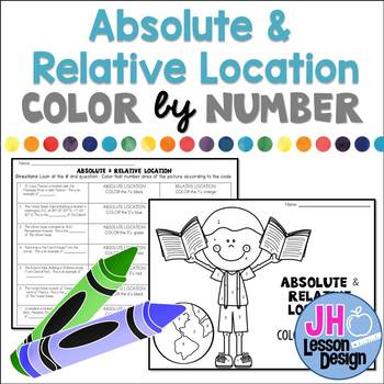 Absolute and Relative Location: Color-By-Number