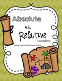Absolute and Relative Location Interactive Notebook Sort Freebie