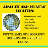 Absolute and Relative Location Lesson