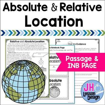 Absolute and Relative Location: Passage and Interactive Notebook