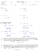 Absolute value equation and inequalities practice quiz test homework (wsB)