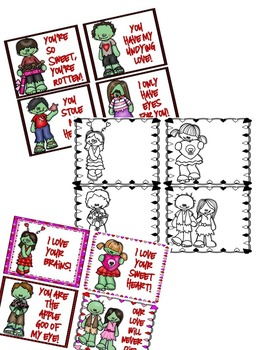 Absolutely Adorably Yucky Zombie Valentines {Freebie}