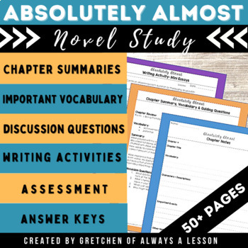 """""""Absolutely Almost"""" Novel Study Resource Guide"""