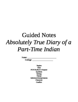 Absolutely True Diary of a Part-Time Indian Novel Study Questions