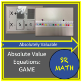 Absolutely Valuable - A Game to Teach Solving Absolute Value Equations