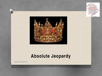 Absolutism Jeopardy Review Game