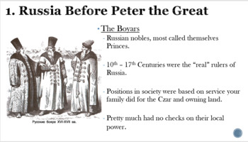 Absolutism: Peter the Great Overview PowerPoint