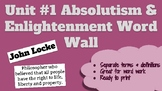 Absolutism and Enlightenment Review Word Wall