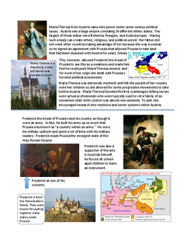Absolutism in Europe Worksheet