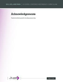 Abstinence Curriculum