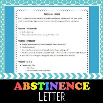 Abstinence Letter