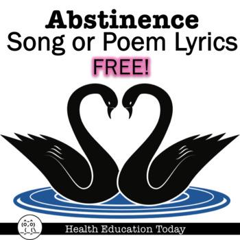 Abstinence Song or Poem Lyrics Homework FREE!
