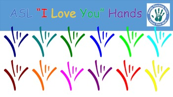 """Abstract ASL """"I Love You"""" Hands."""