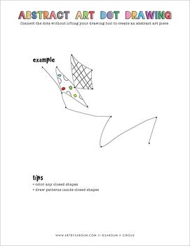 Abstract Art Dot Drawings