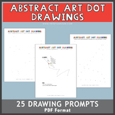 Abstract Art Dot Drawings