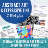 Abstract Art & Elements of Art Line Distance Learning Unit (Google Classroom)