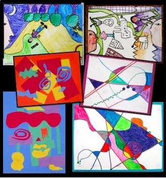 Art Lesson Bundle Abstract Art For Kids Inspired by Chagall, Kandinsky, Matisse