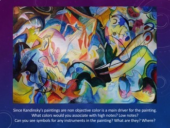 Abstract Art Lesson; One Day lesson making art from music