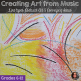 Abstract Art Lesson; Making Art from Music