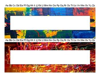 Abstract Art Name Tags