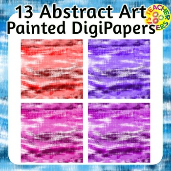 Abstract Art Painted Digital Papers