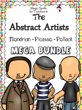 Abstract Artists - Mondrian - Picasso - Pollock - Bio Lit Units - BUNDLE