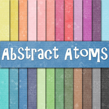 Abstract Atoms Digital Paper Pack - 24 Different Papers - 12 x 12