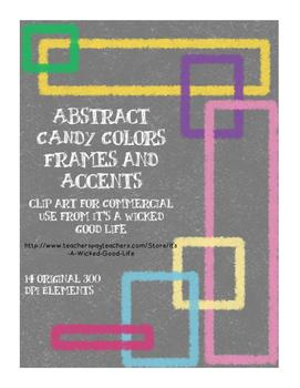 Abstract Candy Colored Frames and Accents