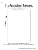Abstract Clay Pattern Relief Sculptures Planning Sheet