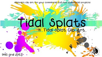 Abstract Clip Art All Uses- Tidal Splats