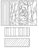 Abstract Coloring Bookmarks