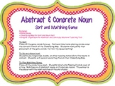 Abstract & Concrete Noun Activity Pack