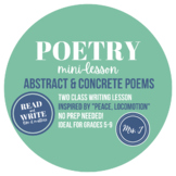 Abstract & Concrete Poem Writing Lessons