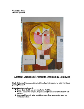 Abstract Cubist Self-Portraits Inspired by Paul Klee