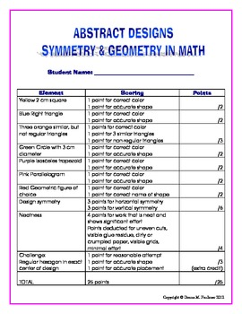 Abstract Designs in Math: Geometry and Symmetry