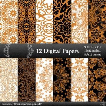 Abstract Digital Card Embellishment Art Flower Layout Book