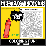 Abstract Doodles Coloring Page Freebie