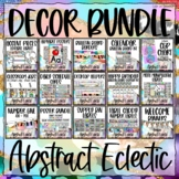 Abstract Eclectic Classroom Decor Growing Bundle