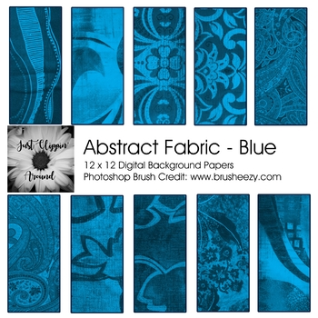 Abstract Fabric Digital Backgrounds - Blue