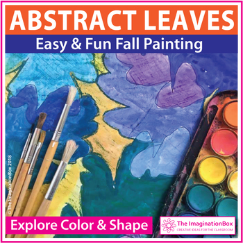 Fall Art Lesson, painting leaves and acorns