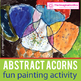 Fall Art Painting Lesson, Leaf and Acorn Theme