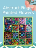 Abstract Finger Painted Flowers