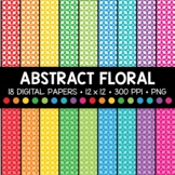 Abstract Floral Digital Paper