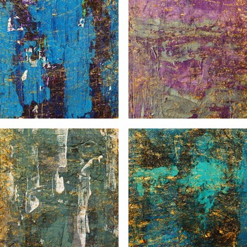 Abstract & Gold Digital Paper, Acrylic Backgrounds