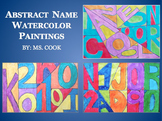 Abstract Name Watercolor Paintings