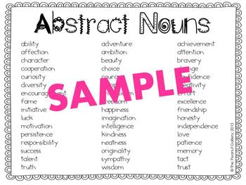 Abstract Noun Jars (Art/Writing Activity)