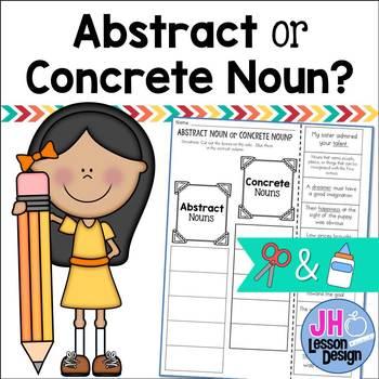 Abstract Noun or Concrete Noun? Cut and Paste Sorting Activity